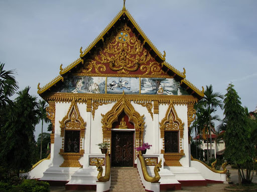 chùa Long Vân Pakse Lào