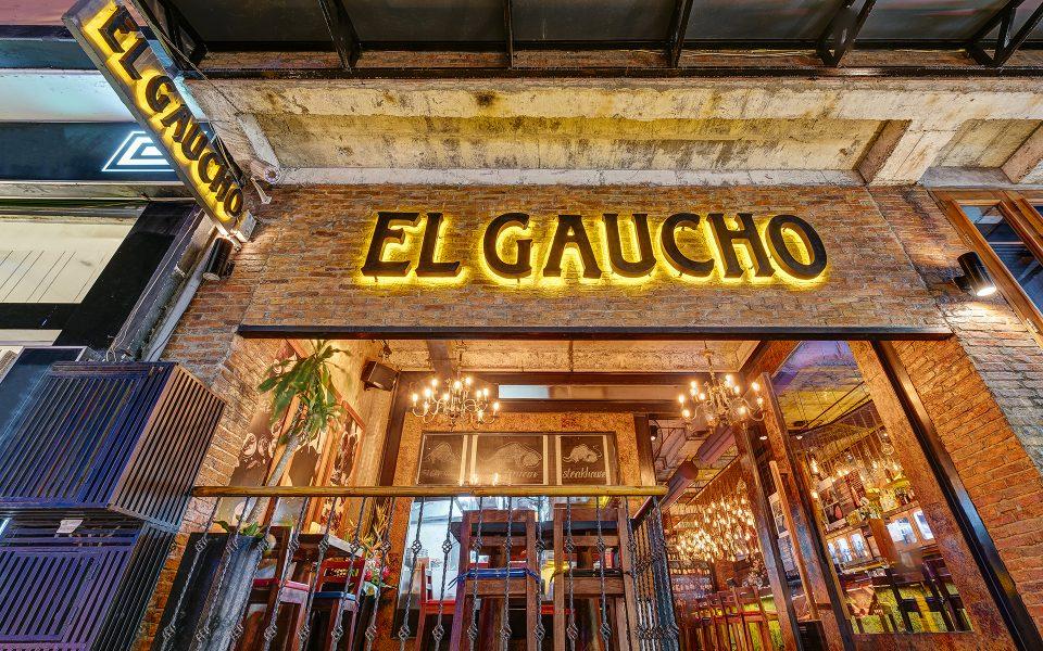 Phía trước không gian Steakhouse El Gaucho hai Bà Trưng