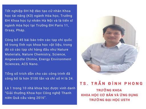 TS. Trần Đình Phong - Trưởng khoa Khoa học cơ bản và ứng dụng Đại học USTH